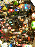 Lamps, Grand Bazaar, Istanbul, Turkey, Europe Prints