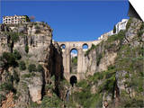 Tajo Gorge and New Bridge, Ronda, Malaga Province, Andalucia, Spain, Europe Prints by Jeremy Lightfoot