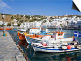 Fishing Boats in Mykonos Town, Island of Mykonos, Cyclades, Greek Islands, Greece, Europe Print by Richard Cummins
