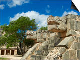The Snake's Head in Ancient Mayan Ruins, Chichen Itza, UNESCO World Heritage Site, Yucatan, Mexico Prints