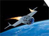 SpaceShipOne, Artwork Print by Henning Dalhoff
