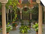 Guy Thouvenin - Beautiful Sevillan Patio, Triana District, Sevilla, Andalusia, Spain, Europe Umění