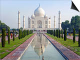 Taj Mahal, UNESCO World Heritage Site, Agra, Uttar Pradesh State, India, Asia Prints by Gavin Hellier