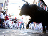 Running of the Bulls, San Fermin Festival, Pamplona, Navarra, Spain, Europe Print by Marco Cristofori