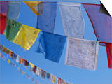 Buddhist Prayer Flags, Bodhnath, Kathmandu, Nepal, Asia Poster by David Poole