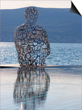 Sculpture of a Man Made of Letters at the Lido Mar Swimming Pool at the Newly Developed Marina in P Prints by Martin Child