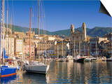 Bastia Harbour, Corsica, France, Europe Prints by John Miller