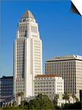 Los Angeles City Hall, California,United States of America, North America Art by Richard Cummins