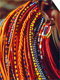 Kenya, Samburu Woman Wearing Decorative Beads Posters by Thomasin Magor