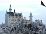Neuschwanstein Castle in Winter, Schwangau, Allgau, Bavaria, Germany, Europe Posters by Hans-Peter Merten