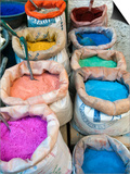 Nico Tondini - Pigments and Spices for Sale, Medina, Tetouan, UNESCO World Heritage Site, Morocco, North Africa, A - Reprodüksiyon