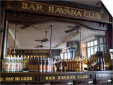 The Bar at the Havana Club Rum Factory, Havana, Cuba, West Indies, Central America Posters by Ellen Rooney