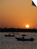 Sunrise at Saly, Senegal, West Africa, Africa Prints by Robert Harding