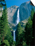 Waterfalls Swollen by Summer Snowmelt at the Upper and Lower Yosemite Falls, USA Posters by Ruth Tomlinson