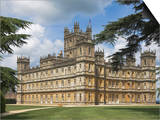 Highclere Castle, Home of Earl of Carnarvon, Location for BBC's Downton Abbey, Hampshire, England Art by James Emmerson