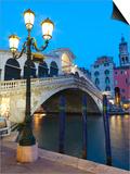 Rialto Bridge on the Grand Canal, Venice, UNESCO World Heritage Site, Veneto, Italy, Europe Prints by Amanda Hall