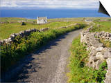 Country Road, Inishmore, Aran Islands, County Galway, Connacht, Republic of Ireland (Eire), Europe Prints by Ken Gillham