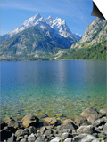 Tetons and Jenny Lake, Grand Teton National Park, Wyoming, USA Prints by G Richardson