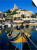 Luzzu Fishing Boat, Mgarr Harbour, Gozo, Malta, Mediterranean, Europe Prints by Stuart Black