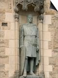Statue of Robert the Bruce at Entrance to Edinburgh Castle, Edinburgh, Scotland, United Kingdom Prints by Richard Maschmeyer