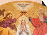 Coronation of the Virgin Mary, Basilica of Fatima, Fatima, Estremadura, Portugal, Europe Art by  Godong