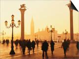 Sunrise in St. Mark's Square, San Giorgio Maggiore in Background, Venice, Veneto, Italy Posters by Lee Frost