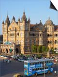 Chhatrapati Shivaji Terminus (Victoria Terminus), UNESCO World Heritage Site, Mumbai, Maharashtra S Prints by Gavin Hellier