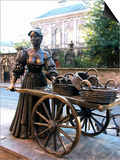 Molly Malone Statue, Grafton Street, Dublin, Republic of Ireland, Europe Prints by Hans-Peter Merten