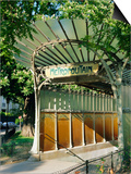 Metropolitain (Metro) Station Entrance, Paris, France, Europe Posters by Gavin Hellier