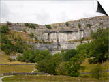 Malham Cove, Malham, Yorkshire Dales National Park, North Yorkshire, England, United Kingdom Posters by White Gary