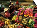 Damnoen Saduak Floating Market, Bangkok, Thailand Posters by Gavin Hellier