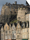 View of Edinburgh Castle from Grassmarket, Edinburgh, Lothian, Scotland, United Kingdom, Europe Poster by Ethel Davies