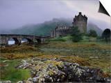 Eilean Donan Castle, Standing Where Three Lochs Join, Dornie, Highland Region, Scotland, UK Posters by Patrick Dieudonne