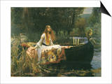 The Lady of Shalott, 1888 Art by John William Waterhouse