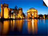 Palace of Fine Arts Illuminated at Night, San Francisco, California, United States of America, Nort Prints by Gavin Hellier