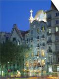 Gaudi Architecture, Casa Batllo, Barcelona, Catalunya (Catalonia) (Cataluna), Spain, Europe Print by Gavin Hellier