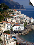 View of Amalfi From the Coast, Amalfi Coast, Campania, Italy, Europe Prints by Olivier Goujon