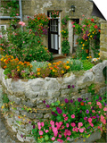 Detail of Cottage and Garden, Yorkshire, England, United Kingdom, Europe Print by Woolfitt Adam