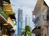 Modern Skyscrapers and Historical Old Town, UNESCO World Heritage Site, Panama City, Panama Prints by Christian Kober