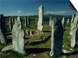 Callanish Standing Stones, Lewis, Outer Hebrides, Scotland, United Kingdom, Europe Prints by Woolfitt Adam
