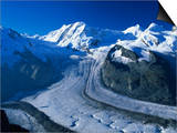 View to Liskamm and the Gorner Glacier, Gornergrat, Zermatt, Valais, Switzerland, Europe Posters by Tomlinson Ruth