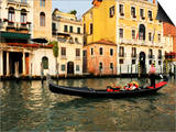 Gondola on the Grand Canal, Venice, Veneto, Italy, Europe Prints by Peter Richardson