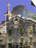 Gaudi Architecture, Casa Batllo, Barcelona, Catalunya (Catalonia) (Cataluna), Spain, Europe Art by Gavin Hellier