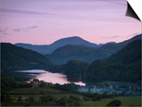 Looking Down the Gwynant Valley over Llyn Gwynant at Dusk, Wales, United Kingdom, Europe Art by Ian Egner