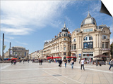 The Place De La Comedie, Montpellier, Languedoc-Roussillon, France, Europe Poster by David Clapp