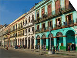 Old Colonial Houses in the Center of Havana, Cuba, West Indies, Caribbean, Central America Posters