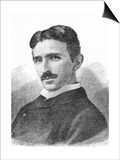 Nikola Tesla, Serb-US Physicist Prints by Science Photo Library