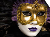 Mask at Venice Carnival, Venice, Veneto, Italy, Europe Prints by Carlo Morucchio