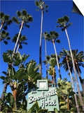 Sign for Beverly Hills Hotel, Beverly Hills, Los Angeles, California, Usa Prints by Wendy Connett