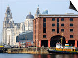 Royal Liver Building and Albert Docks, UNESCO World Heritage Site, Liverpool, Merseyside, England,  Posters by Chris Hepburn